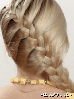 weaving of the French braid