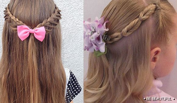 Simple hairstyles from braids