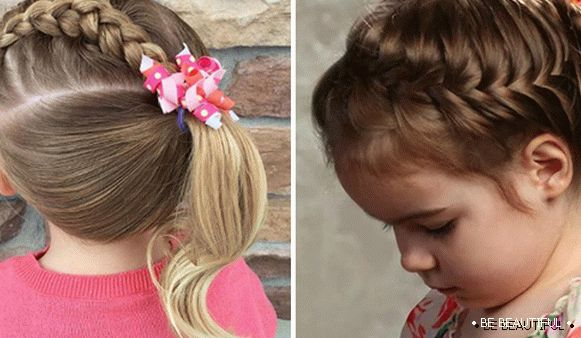 Children's hairstyles with spikelet