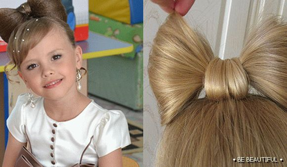 Styling with a bow of hair