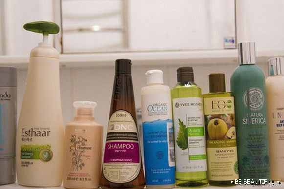 Shampoos for greasy hair