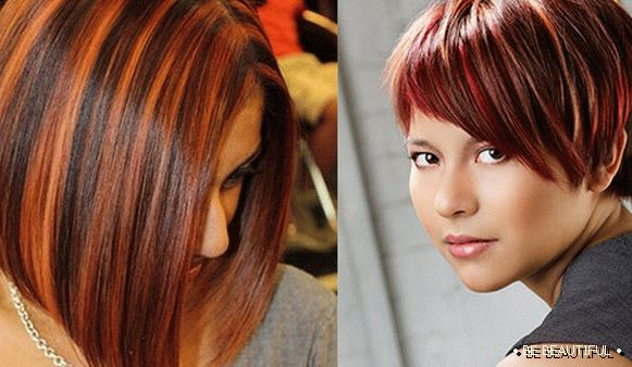 Coloring on red hair