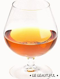 cognac for a mask to improve hair growth