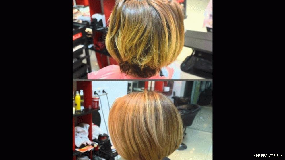 shatush short hair dyeing