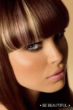 hairstyle with bangs photo