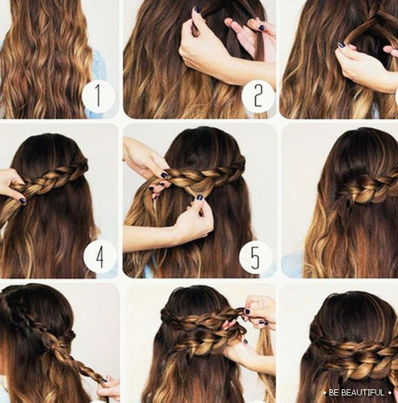 Loose hair with a braid