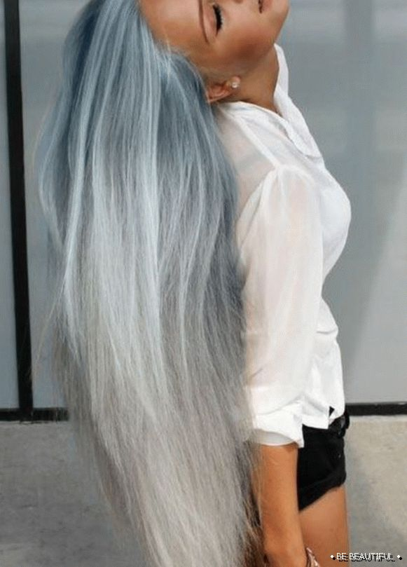 Shatush long hair the best colors