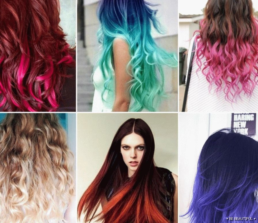 Shatush long hair paint selection