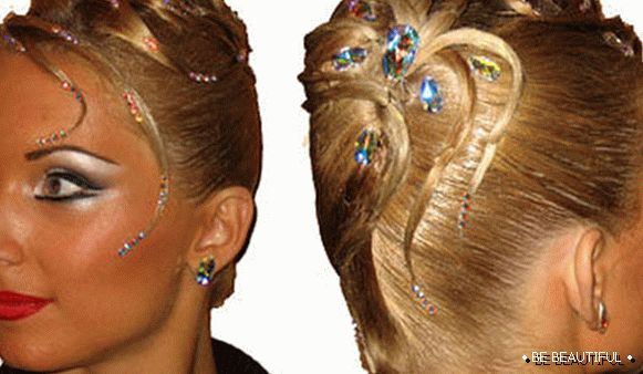 Hairstyle for ballroom dancing