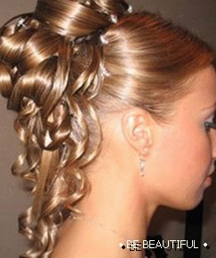 Wedding hairstyle for long hair photos