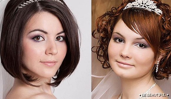 Hairstyles with a veil